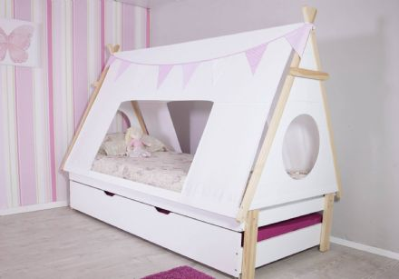 TEEPEE TENT BED FRAME WITH TRUNDLE